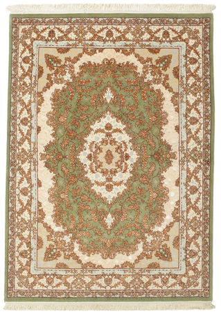 Tabriz 60 Raj silk warp carpet 205x147
