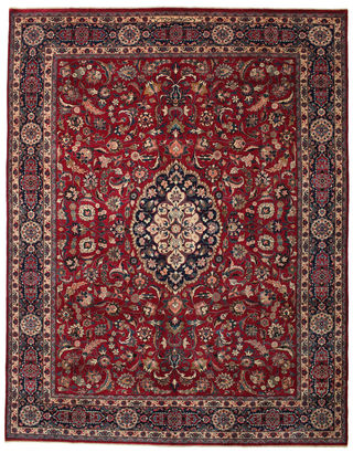 Mashad Patina signed: Donated to a mosque carpet 99x125 (296x379 cm) Persian Carpet