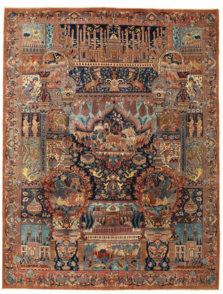Kashmar Patina pictorial carpet 384x291