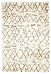 Berber style Shaggy Fence - White Brown carpet RVD5542