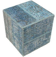 Patchwork stool ottoman carpet BHKW19
