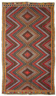 Kilim semi antique Turkish carpet THL50