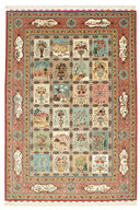 Tabriz 70 Raj silk warp signed: Poor Shamloo carpet VAZZT21