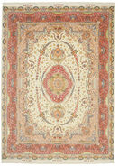 Tabriz 70 Raj silk warp Signed: Benam carpet VAZZT23