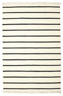 Dhurrie Stripe - White/Black carpet CVD1661