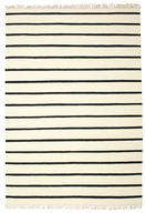 Dhurrie Stripe - White/Black carpet CVD1662