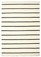 Dhurrie Stripe - White/Black carpet CVD1663