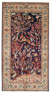 Kerman pictorial signed: Golkar carpet EXV304
