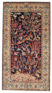 Kerman pictorial signed: Golkar carpet EXV305