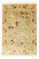 Qum silk pictorial signed: Sharifi carpet RZZZB18