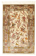 Qum silk pictorial signed: Sharifi carpet RZZZB13